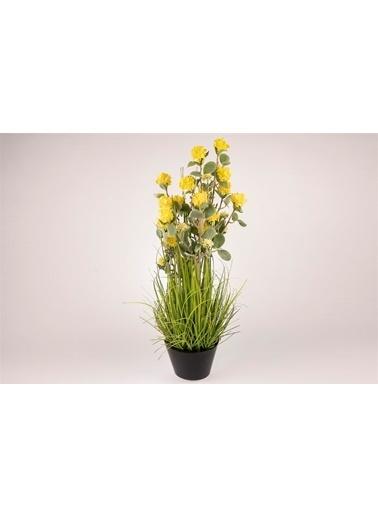 Mikasa Moor Sarı Ortanca Yapay Çiçek 82Cm Sarı